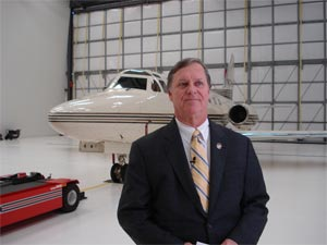 Mayor Bill Young of Walterboro, SC at Lowcountry Regional Airport